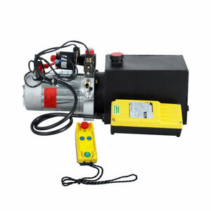 Dc12v Double Acting Hydraulic Power Pump Unint W Wireless Remote Controller