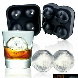 Ice Balls Maker Round Sphere Tray Mold Cube Whiskey Ball Cocktails Silicone