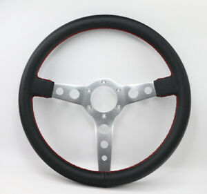 350mm Universal Bk Dish Flat Dish Racing Steering Wheel Quick Release Horn