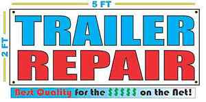 Full Color Trailer Repair Banner Sign All Weather New Xl Larger Size