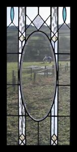 Pretty Bevelled Arts Crafts English Antique Stained Glass Window