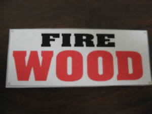 Fire Wood Banner Sign Brand New All Weather Best Price Firewood Extra Big Size