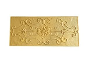 Decorative Scroll Accent Concrete Stamp single Rigid Stamp