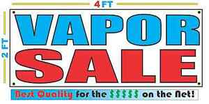 2x4 Vapor Sale Banner Sign New Discount Size Best Quality For The