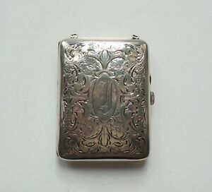 Watrous Sterling Silver Ladies Coin Purse Or Compact C 1900