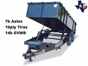 Brand New 7 X 16 Gooseneck Dump Trailer 14k Gvwr With 24 Sides