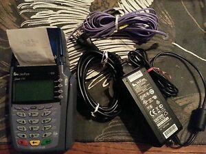 Verifone Omni 3730 Le Vx510 Credit Card Terminal Printer All In One
