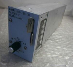 Microdyne 1120 I b 3 Second If Filter Amplifier Model 0 75 3 3 6 0 Mhz