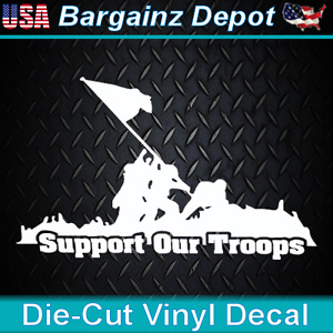 Vinyl Decal Support Our Troops Military Service Respect Car Laptop Sticker
