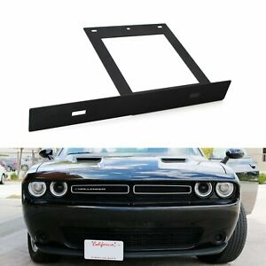 No Drill Front Bumper License Plate Bracket Relocator For 08 Up Dodge Challenger