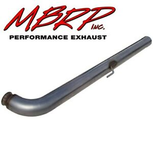 Mbrp 06 07 Gm Duramax Lly Lbz Front Cat Delete Pipe Slip Fit 4 Stainless Steel