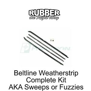 1981 1988 Oldsmobile Cutlass Beltline Seal Sweeps Fuzzies Kit