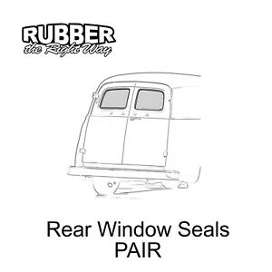 1957 1958 1959 1960 Ford Panel Truck Back Window Seals Pair