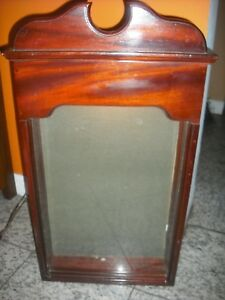 Wood Front Glass Lighted Menu Services Card Display Case
