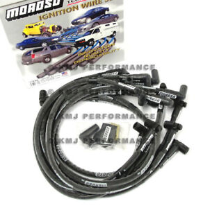Moroso 9762m Mag tune Sbc Chevy 350 Spark Plug Wires Hei 90 Over Valve Covers