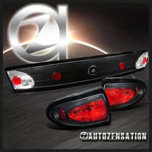 2003 2005 Chevy Cavalier Black Tail Trunk Lights 3pc