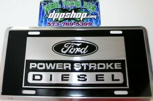 Ford Powerstroke Diesel Truck Emblem License Plate Tag Power Stroke Sign Logo Ps