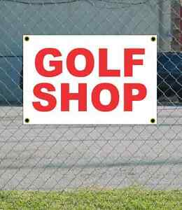 2x3 Golf Shop Red White Banner Sign New Discount Size Price Free Ship