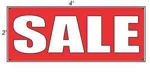 2x4 Sale Red With White Copy Banner Sign New