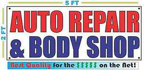Auto Repair Body Shop Banner Sign New Larger Size Best Quality For The