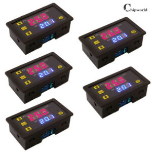 5x Dual Digital Display 12v Timing Delay Relay Module Cycle Timer 0 999 Minutes