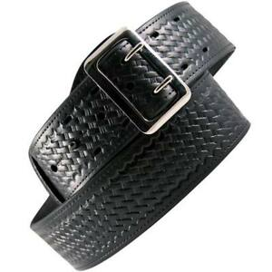Boston Leather 6501 3 34 Black Bw Lined 2 25 Sam Browne Duty Belt 34