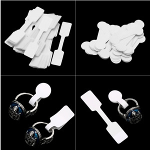 100pcs bag White Blank Price Tags Necklace Ring Jewelry Labels Paper Stickers H7