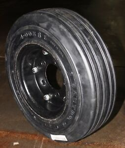 400x8 Tire 3 75 Rim Width Solid Tire And Wheel For Sizzor Lift Trailers