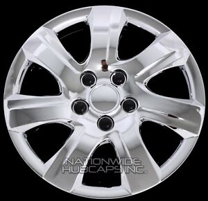 16 Set Of 4 Chrome Wheel Covers Snap On Full Hub Caps Fit R16 Tire Steel Rim