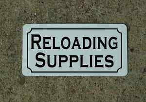 RELOADING SUPPLIES Metal Sign 4 Military Staging Kitchen Decor TV Movie Prop $13.45
