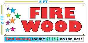 Fire Wood W Multi Colored Stars Banner Sign New Larger Size