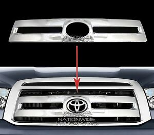 Fits 10 13 Toyota Tundra Chrome Snap On Grille Overlay Grill Covers Front Insert