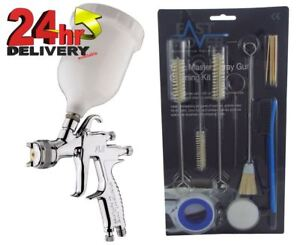 Devilbiss Flg 5 1 8mm Paint Air Spray Gun 13 Piece Cleaning Kit