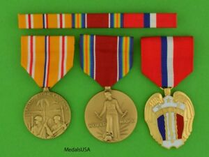 WWII Philippines Asia Pacific Service Medals and RIbbon Bar WWII $59.49