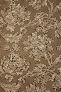 Antique French Art Nouveau Woven Damask Fabric Panel Upholstery Curtains