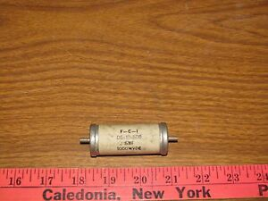 Vintage F c i 5mf 1000 Vdc High Voltage Oil Capacitors Nos D6 10 500