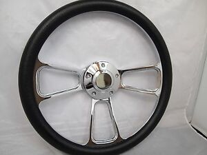 1961 1966 Dodge Dart Chrome Black Steering Wheel Full Install Kit Horn