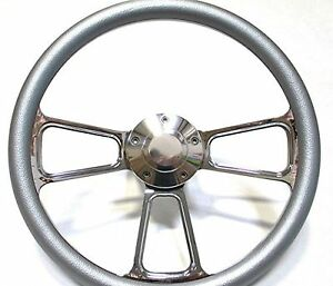 1961 1966 Dodge Dart Chrome And Silver Steering Wheel Full Install Kit Horn