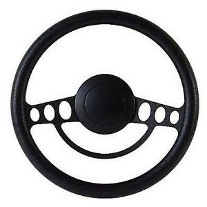 New World Motoring Black On Black Billet Hot Rod Steering Wheel 9 Hole For