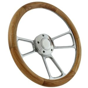 1970 73 Chevy Gmc C10 C20 Pick Up Trucks Wood chrome Steering Wheel
