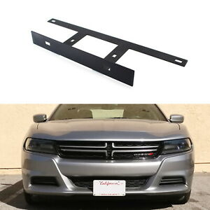 No Drill Front Bumper License Plate Bracket Relocator For 2015 up Dodge Charger