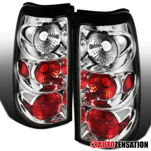 For 2003 2006 Chevy Silverado 1500 2500 Clear Lens Tail Lights Brake Lamps Pair
