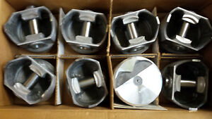 340 Chrysler Dodge Forged Pistons L2316f 030 Over Flat Tops