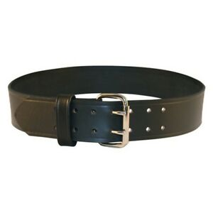 Boston Leather 6503 1 32 Men s Black Plain Explorer Duty Belt 2 25 Size 32