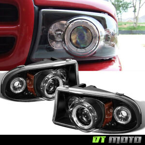 Blk 1997 2004 Dodge Dakota 98 03 Durango Led Projector Headlights Corner Signal