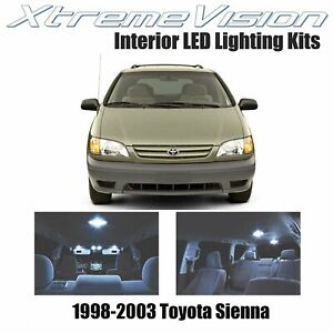 Xtremevision Led For Toyota Sienna 1998 2003 9 Pieces Cool White Premium Inter