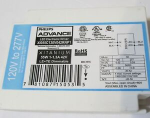 Philips Xitanium Led Electronic Driver Ballast Xi055c130v042rnp1 Dimmable 55w