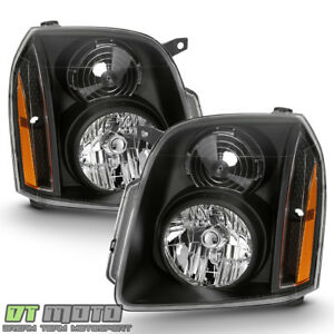 Black 2007 2014 Gmc Yukon Denali Xl Denali Headlights Headlamp Left right 07 14