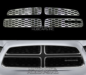 2011 2014 Dodge Charger Chrome Snap On Grille Overlay Grill Inserts Vent Covers