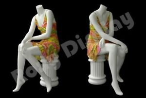 Female Fiberglass Headless Style Mannequin Dress Form Display md a7bw2 s